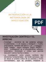 Introducción a la metodología de investigación