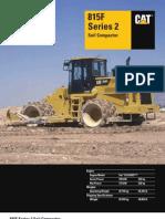 Compactadores de Suelos Cat Specalog 815 Series 2 Soil Compactor