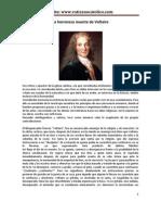 La Horrorosa Muerte Del Impio, dos relatos de la muerte de Voltaire
