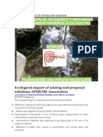 Ecological Impact of Mining and Solutions