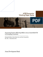 Assessing Factors Affecting M&As versus Greenfield FDI in Emerging Countries