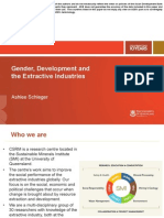Gender, Development and the Extractive Industries