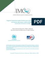 Programa Especial de Cambio Climático para el periodo 2012-2020 con acciones adicionales y análisis de potencial