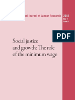 ILO - Social Justice & Growth - The Role of the Minimum Wage (2012)