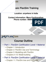 FlexSim Training BASIC_VER 6.0_Outline1