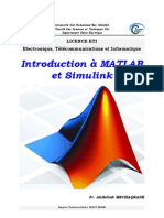 Introduction +á MATLAB et Simulink