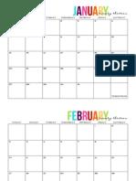 2013 Full Page Calendar - TomKat Studio
