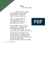 Psalm - de Tudor Arghezi