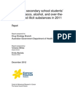 Tobacco, Alcohol and Drug Report