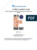 BS - Brian Tracy - How the Best Leaders Lead