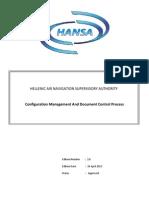 HANSA_Configuration Management and Document Control Process