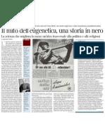 Il mito dell'eugenetica, una storia in nero - Corriere Della Sera 10.12.2012