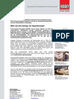 BESSEY Korpuszwingen REVO Spannkonzept - Presseinformation
