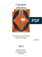 Calendrier orthodoxe 2013