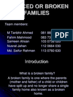 Divorced or Broken Families (Revised)