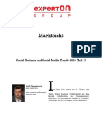 Experton Group Marktsicht;Social Business Und Social-Media-Trends 2013 (Teil 1),Dezember 2012,A.oppermann