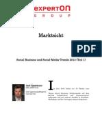 Experton Group Marktsicht;Social Business Und Social-Media-Trends 2013 (Teil 1),Dezember 2012,A.oppermann