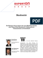 Experton Group Marktsicht;Die Experton Group startet eine neue MultiClient-Studie zum Thema Social Business for Collaboration & Communication in Deutschland