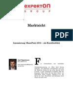 Experton Group Marktsicht;Lizenzierung; SharePoint 2013 – ein Kurzüberblick