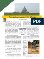 Sensaciones desde Côte d'Ivoire