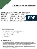 Dr. Indrajid Critical Appraisal