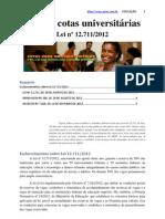 Lei das cotas universitárias Lei nº 12.711/2012