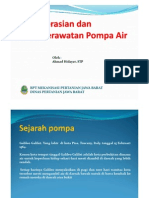 Pengoperasian Dan Perawatan Pompa Air
