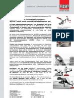 BESSEY Kniehebelspanner STC - Presseinformation