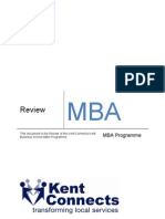 Review of MBA Programme