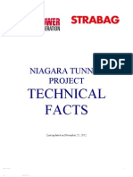Niagara Tunnel Project - Technical Facts