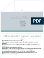 Risk Management FoldRite Furniture Assignment