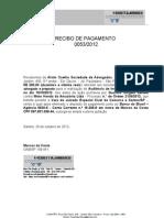 Recibo de Pagamento de Honorários - Alvim  - Gustavo
