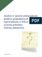 Analiza skutków Jednolitego Patentu od Deloitte