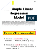 Simple Linier Regression Model