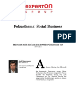 Experton Group Fokusthema Social Business;Microsoft stellt die kommende Office-Generation vor