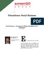 Experton Group Fokusthema Social Business;Social Business – der disruptive Wettbewerbsfaktor im 21. Jahrhundert