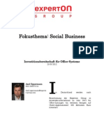 Experton Group Fokusthema Social Business;Investitionsbereitschaft für Office-Systeme