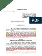 Projeto de Lei p/ Regulamentar Festas e Eventos em Viçosa - Comentado