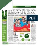 Hoy se presenta esperado Plan Nacional de DD.HH.