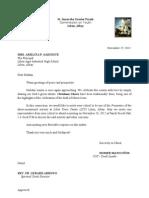 Christmas Cheer 2012 Letter