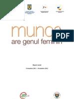 """Raport anual """"Munca are genul feminin"""""""