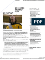 DoD Spends $100,000 Studying Whether Jesus Died for Klingons.pd