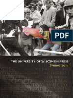 University of Wisconsin Press Spring 2013 Book Catalog