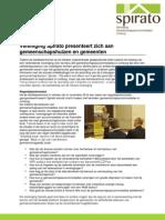 Vereniging Spirato Presenteert Zich Aan Gemeenschapshuizen en Gemeenten