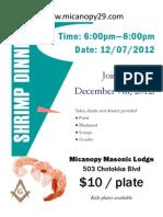 Shrimp Dinner Flyer 121207