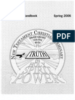 NTCS Student Handbook SPRING 2006