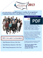 Small Business Week Awards Flyer
