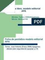 Ficha de Libro Modelo Editorial APA