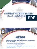 CONFERENCIA Presentacion de TEG