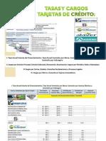 Tasas y Cargos Tarjetas Crédito por Asociaciones y Bancos de Ahorro - Desarrollo